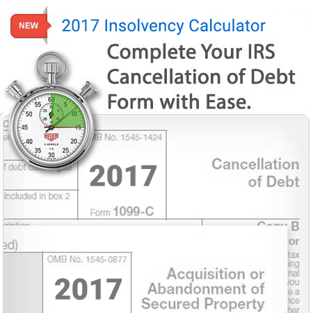 2017 irs 1099-c insolvency form