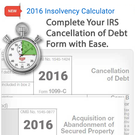 Worksheets Form 982 Worksheet form 982 insolvency calculator zipdebt debt relief calculator